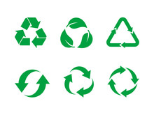 Recycle Symbol Vector Set. Gre...