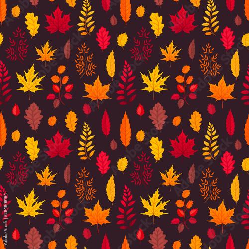 Türaufkleber Künstlich falling leaves seamless pattern