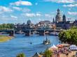 Blick auf das Elbufer von Dresden