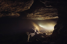 Light In Dark Cave