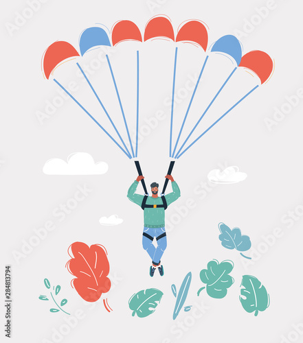 Photo Man on Parachute