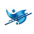 Exklusive Grafik - Logodesign mit blauem Farbverlauf