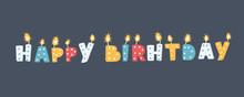 Candles Happy Birthday.