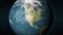 Planet Earth, Zooming In On The North American Continent.