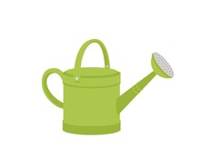 Green Metal Watering Can Or Po...