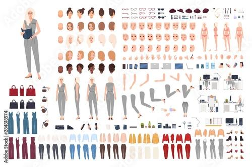 Pinturas sobre lienzo  Female secretary animation set or DIY kit