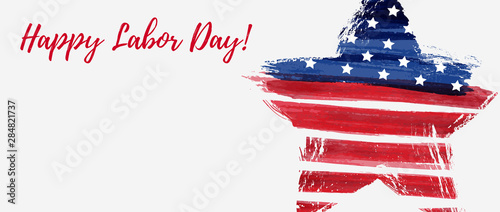 Tablou Canvas USA Labor day background