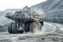 Large Quarry Dump Truck. Trans...