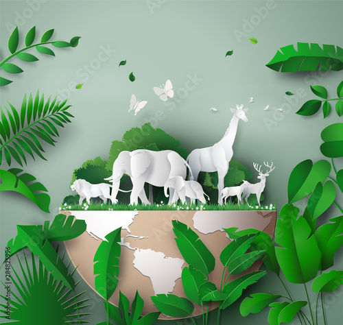 World Wildlife Day Wall mural