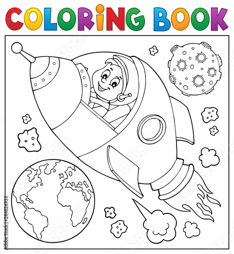 Papiers peints Enfants Coloring book space theme 2