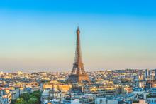 Skyline Of Paris With Eiffel T...