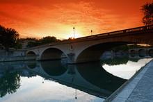 Louis Philippe Bridge In Paris...