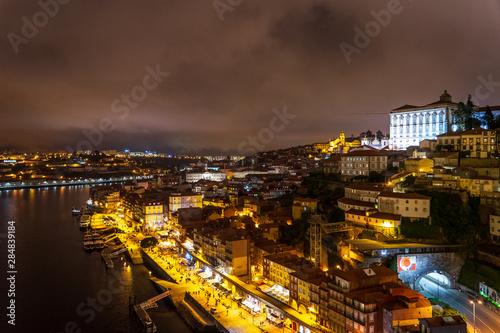 Fototapeta Porto at night obraz na płótnie