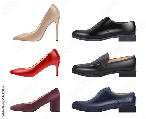 Shoes realistic Obraz na płótnie