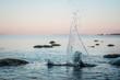 canvas print picture - Wasserspritzer im Meer