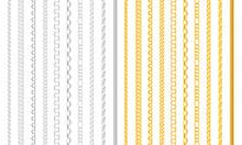Seamless Chain Borders. Gold A...