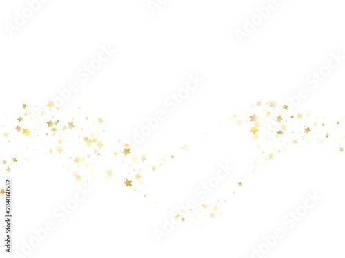 Obraz Magic gold sparkle texture vector star background. - fototapety do salonu