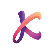 Colorful Letter K Logo Template