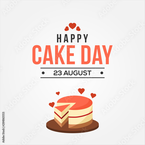 Photo National Sponge Cake Day Vector Design Template