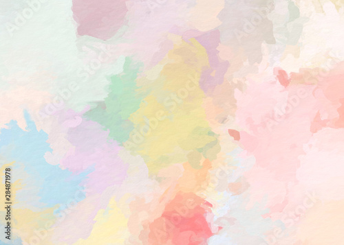Fototapeta paint like illustration in watercolor style in dreamy pastel tone color obraz
