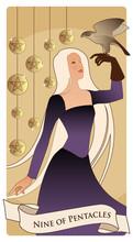 Nine Of Pentacles. Tarot Cards...