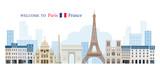 Fototapeta Fototapety Paryż - Paris, France Landmarks Skyline