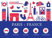 Paris, France Landmarks And Tr...