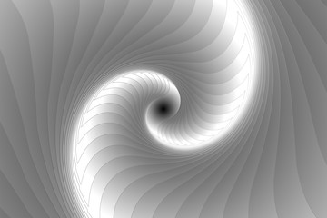Infinite geometry fractal background of black and white spiral jigsaw puzzle