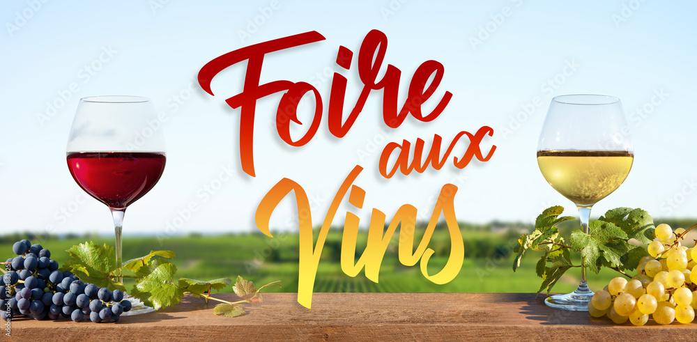 Fototapeta Foire aux vins rouge et blanc