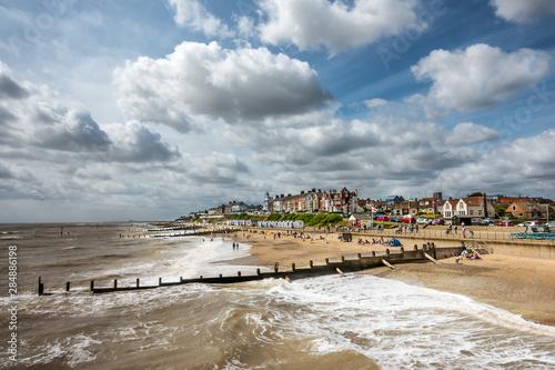 Stampa su Tela Southwold beach on the Suffolk coast of East Anglia
