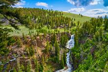 Undine Falls At Yellowstone National Park,  Wyoming, USA.
