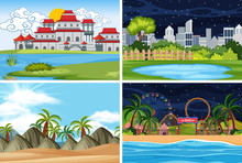 A Set Of Outdoor Scene Including Water
