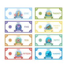 Vector Set Of Paper Money For ...