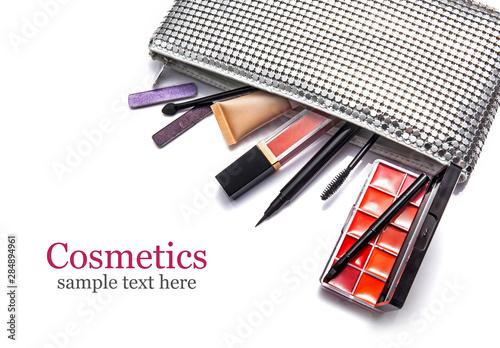 Fotografie, Obraz  Cosmetics set isolated on white