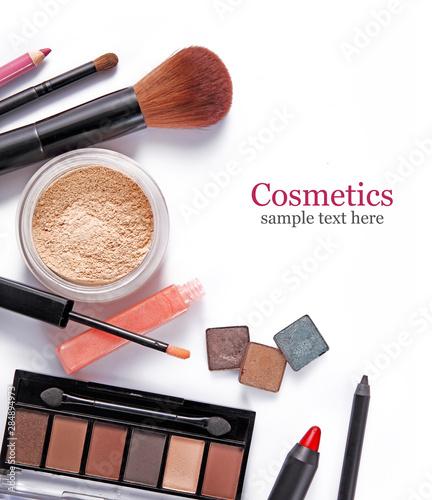 Fototapeta  Cosmetics set isolated on white