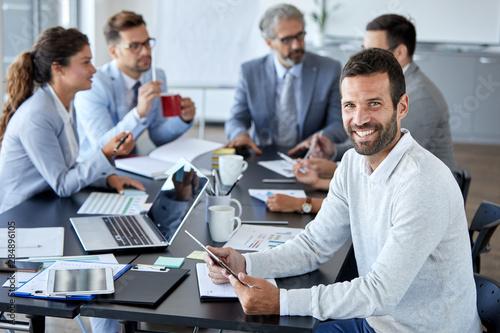 Εκτύπωση καμβά businessman office portrait corporate meeting