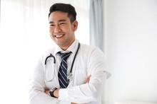 Portait Of Asian Doctor In Hos...