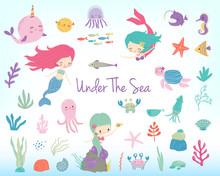 Mermaids, Sea Animals And Sea ...