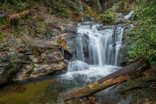 Small Waterfall In The North Georgia Mountains