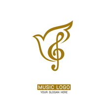 Music Logo. Treble Clef On A D...
