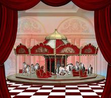 Magic Carousel On A Surreal St...