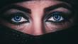 eyes of an eastern woman, macro