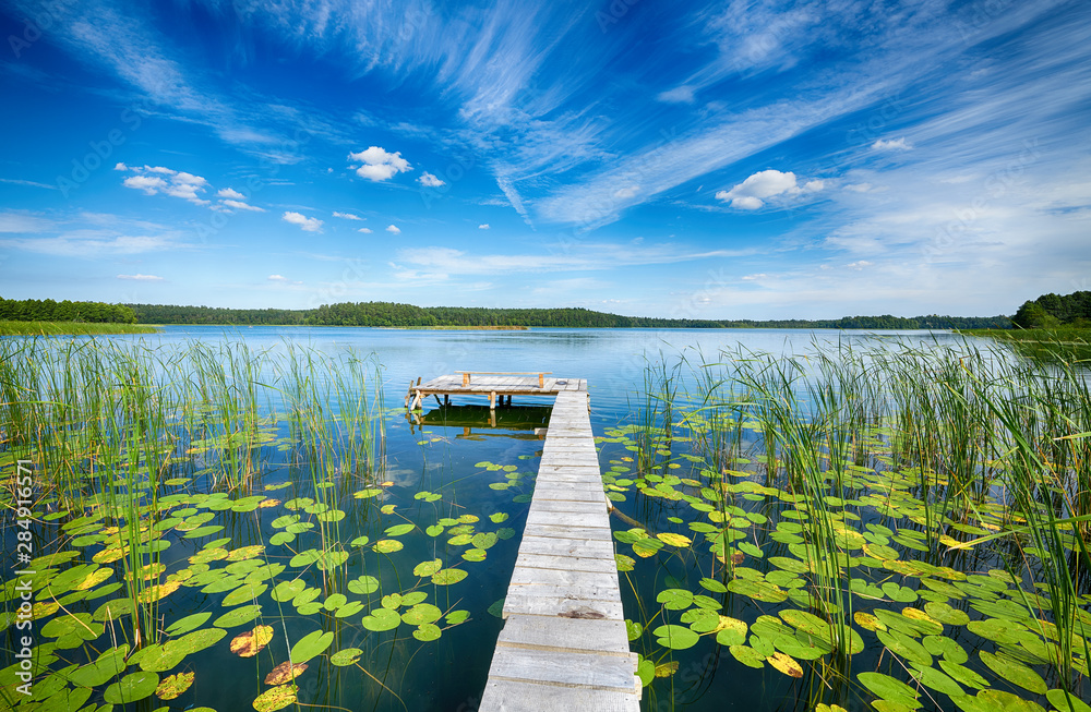 Fototapety, obrazy: Beautiful summer day on masuria lake district in Poland