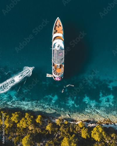 Widok z lotu ptaka jacht w Croatia