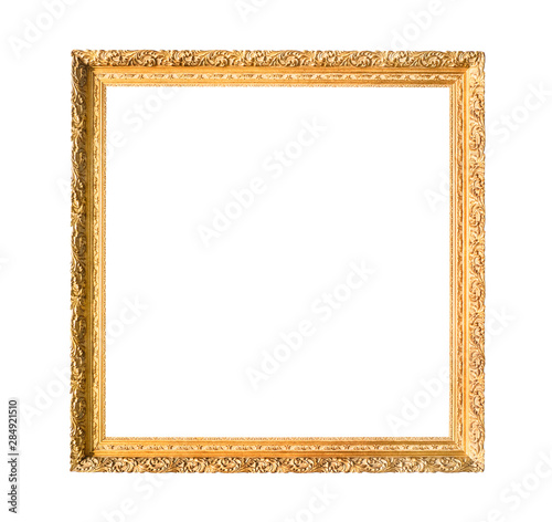 Obraz square carved narrow wooden painting frame - fototapety do salonu