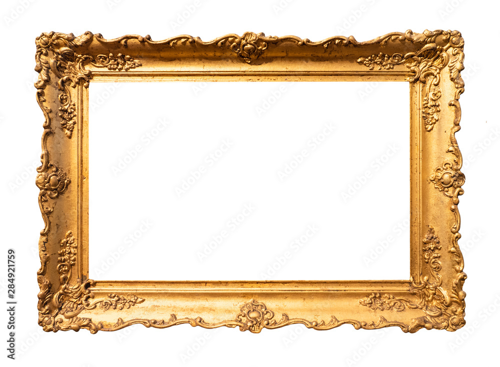Fototapety, obrazy: old wide ornamental baroque picture frame