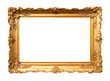 canvas print picture - old wide ornamental baroque picture frame