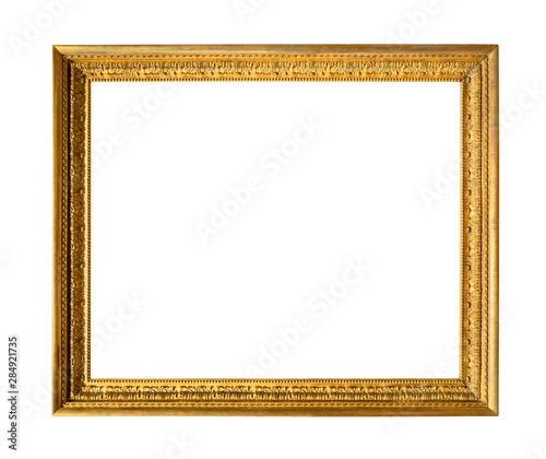 Obraz old carved wooden picture frame cut out - fototapety do salonu