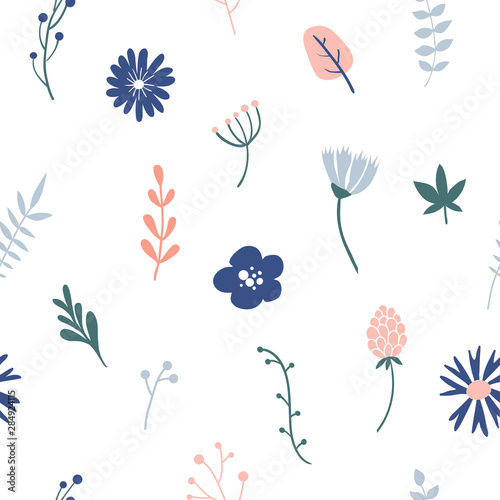 Recess Fitting Pattern Flower simple minimalistic seamless pattern