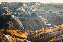 New Zealand, Otago. View North From Ben Lomond Saddle Near Queenstown Toward The Harris Mountains.